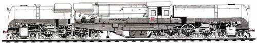 Algeria - PLM 231-132BT Class 4-6-2 + 2-6-4