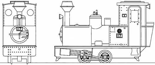 Ashibetsu Forest railway No.17 Bagnall Steam Locomotive