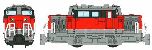 B Train Shorty DD51 Diesel Freight Locomotive