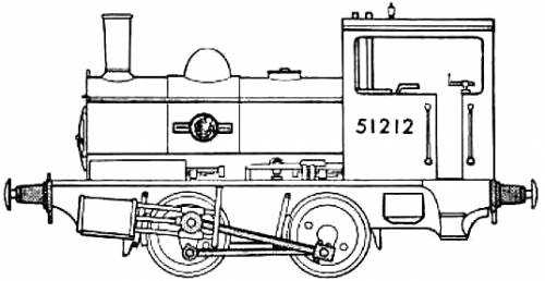 BR 0-4-0 Locomotive Saddle Tank