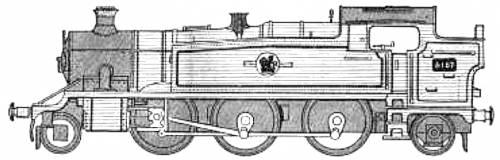 BR 2-6-2 Locomotive 6100 Class Prairie Tank (R301)