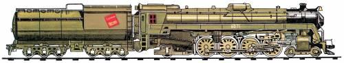 CNR UL-F Class 4-8-2 (1944)