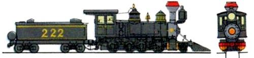 DRGW Class C16 2-8-0 Denver & Rio Grande 1882