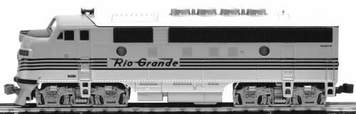 EMD F3A Phase II Denver & Rio Grande Western