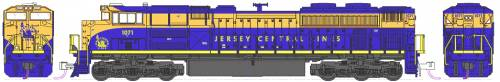 EMD SD70ACe NS Heritage Jersey Central Lines no 1071
