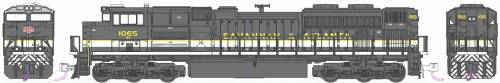 EMD SD70ACe NS Heritage Savannah & Atlanta no 1065