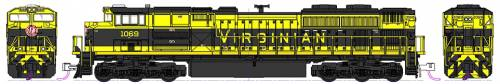 EMD SD70ACe NS Heritage Virginian