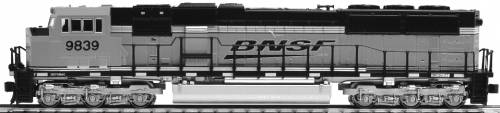 EMD SD70MAC Cab Headlight BNSF 'Swoosh'