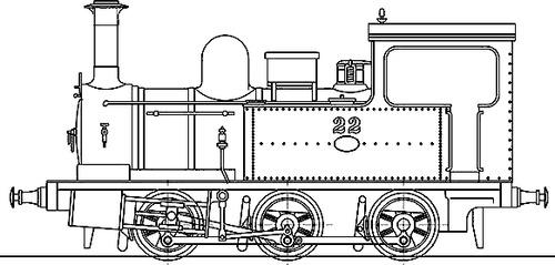 JGR Nasmyth-Wilson 0-6-0 Type 1100