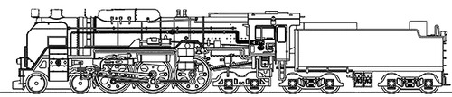 JNR C62-44 Steam Locomotive