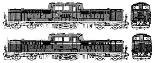 JNR DD51 Hokutosei Diesel Locomotive