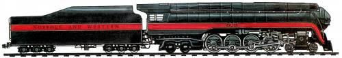 N&W J Class 4-8-4 (1941)