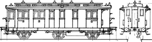 Nebanbahn Personenwagen BC3i PR92