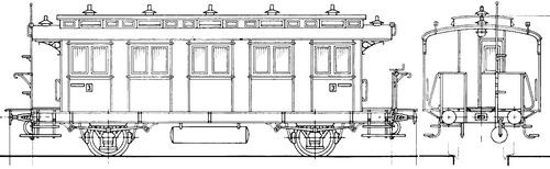 Nebanbahn Personenwagen Ci PR91