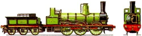 NER Class 1001 0-6-0 1874
