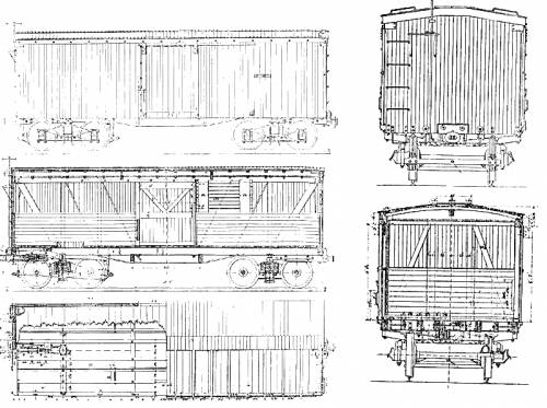 New York Central and Hudson River RR 29-feet Boxcar (1876)