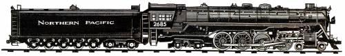 NP Class A-3 4-8-4 (1943)