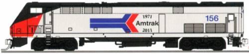 P42 Amtrak Phase I No.156