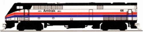 P42 Amtrak Phase II No.66