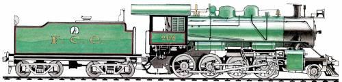 Peru - FCC Andes Class 2-8-0 (1935)
