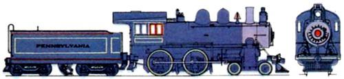 PR Class D16 4-4-0 Pennsylvania Railroad 1895