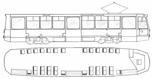 Russian tramcar KTM5