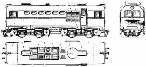 Russian Tu-2 Class Narrow Gauge Diesel Locomotive