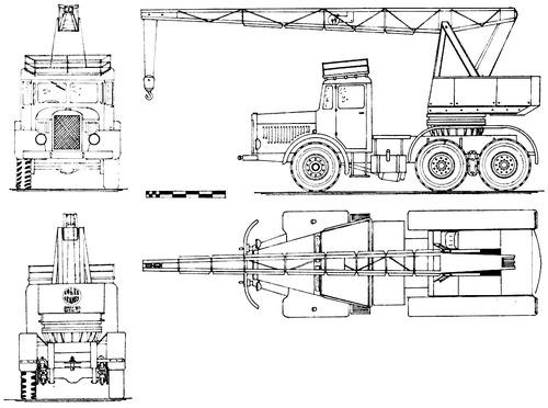 AEC 0854 Coles Mk.VII series 7 Crane