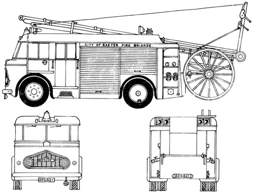 Bedford Miles Bros Fire Engine (1957)