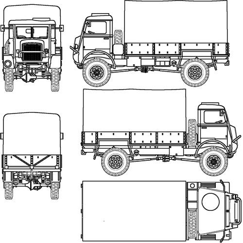 Bedford QLD 3-ton 4x4 GS
