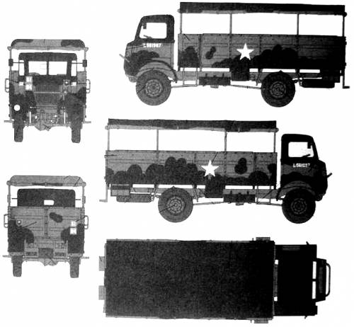 Bedford QLD 3-ton 4x4 Troopcarrier