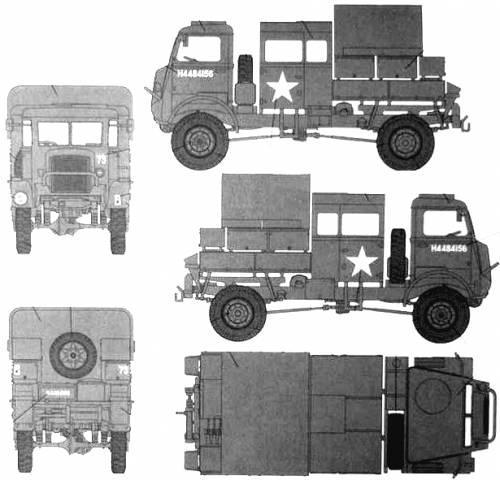Bedford QLR 4x4 Bofors Gun Tractor