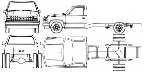 Chevrolet C-K Pick-up Chassis Cab (1990)