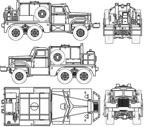 Diamond T 968A & Asphalt Tank