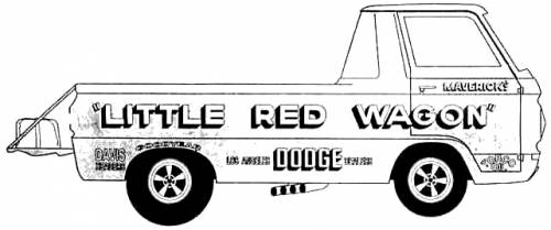 Dodge A-100 Pick-Up Little Red Wagon (1965)