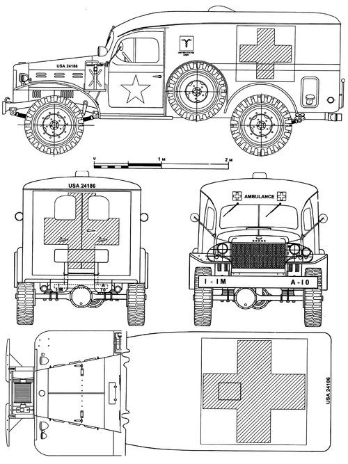 Dodge WC-54 0.75 ton 4x4 Ambulance (1944)