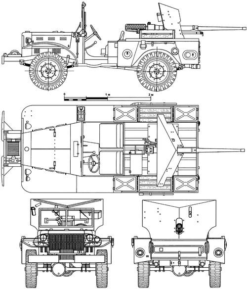 Dodge WC-55 0.75 ton 4x4 M6 T214 37mm GMC