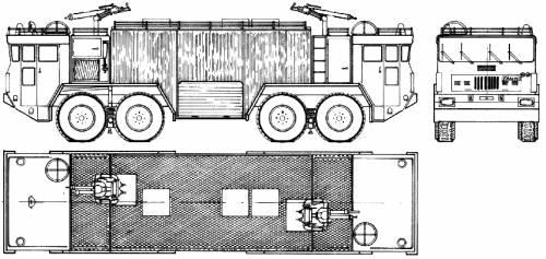 Faun 4-Archer Fire Truck (1972)
