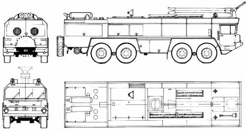 Faun 4-Archer Fire Truck (1979)