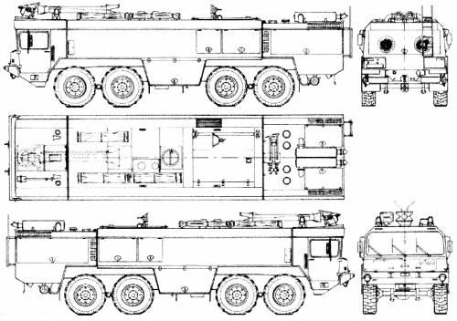 Faun FL 40.30x2-48v 8x8 Flugfeld Fire Truck (1978)