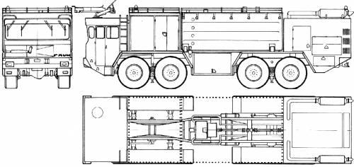 Faun LF 1410 52v 8x8 Fire Truck (1976)