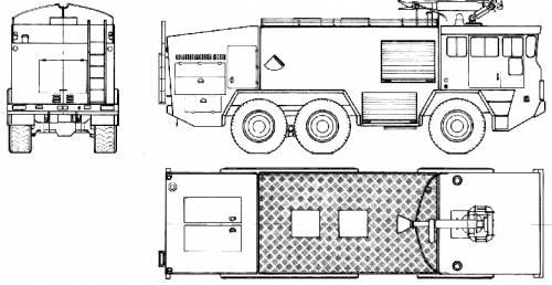 Faun LF 910-42v 6x6 Fire Truck (1972)