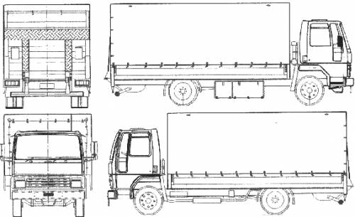 Ford E Cargo 0711 Fire Truck (1987)