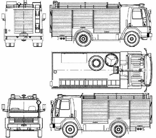 Ford E Cargo 1117 Fire Truck (1983)