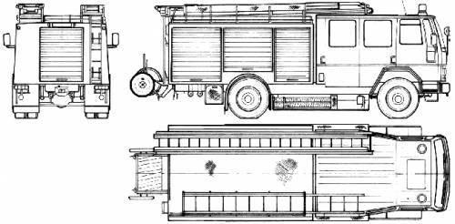 Ford E Cargo 1520 Fire Truck (1986)