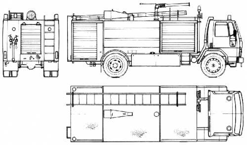 Ford E Cargo 1620 Fire Truck (1985)