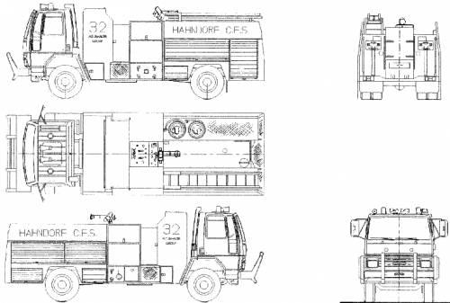 Ford E Cargo 1621 Fire Truck (1986)