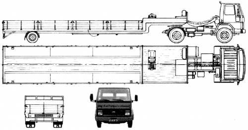 Ford E Cargo 1713 Trailer (1986)