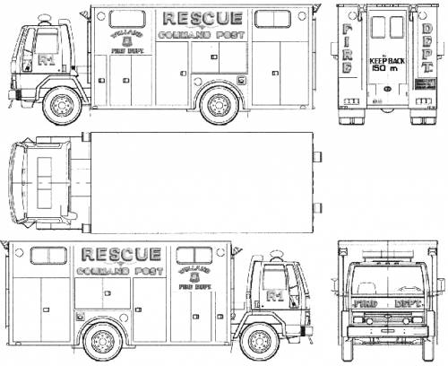 Ford E Cargo CF6000 Fire Truck (1987)
