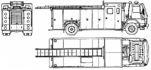 Ford E Cargo CF6000 Fire Truck (1989)